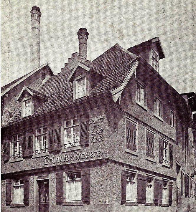 Brauerei Brünnle 1940  | Foto: Manfred Eble