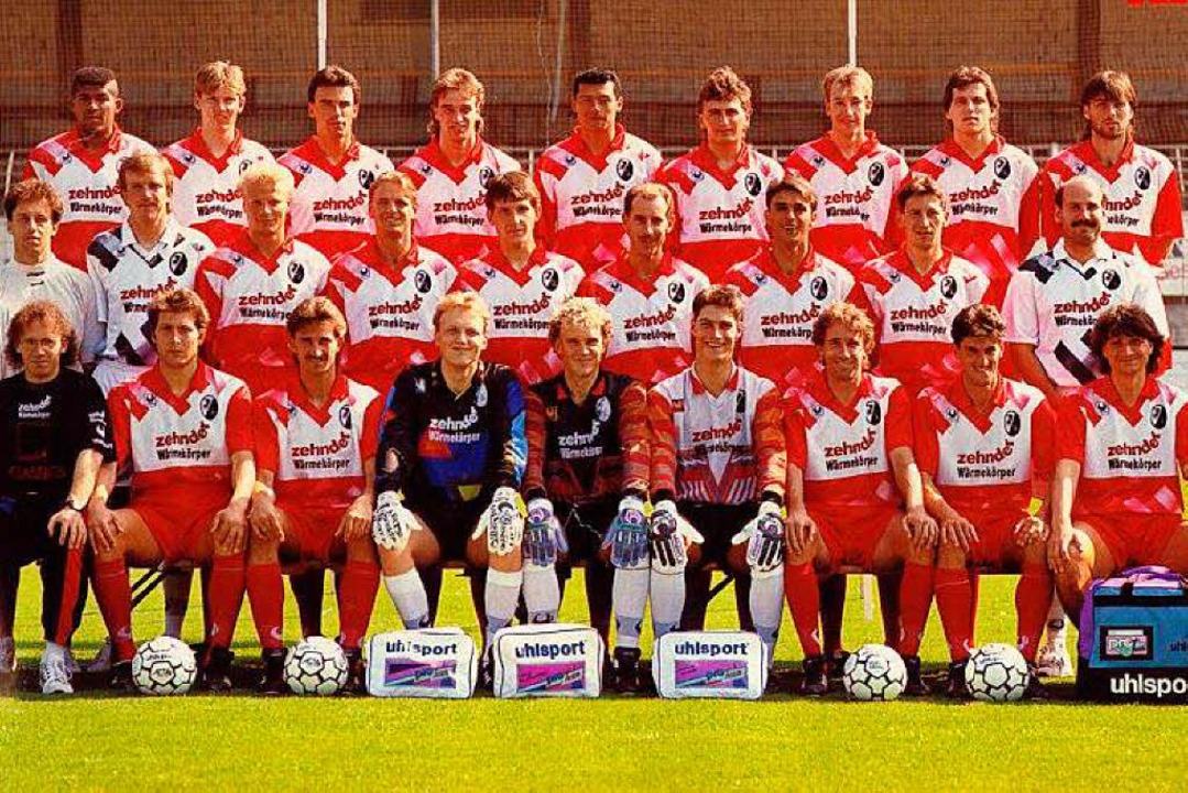 Die Mannschaft des SCF in der ersten Bundesliga-Saison 1993/94.  | Foto: SC Freiburg