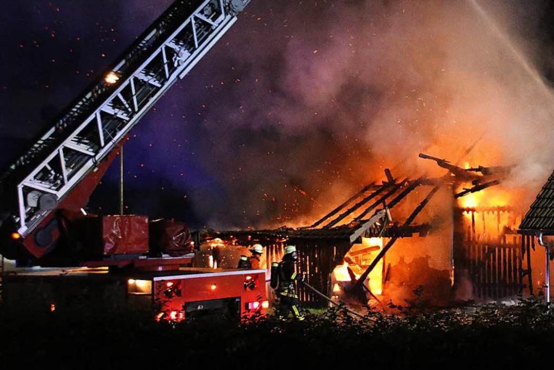 Hoher Schaden entstand bei dem Brand des Wohnhauses.     Foto: spether