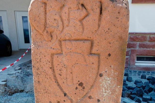 In Friesenheim wurde ein Gemarkungsgrenzstein von 1531 gefunden