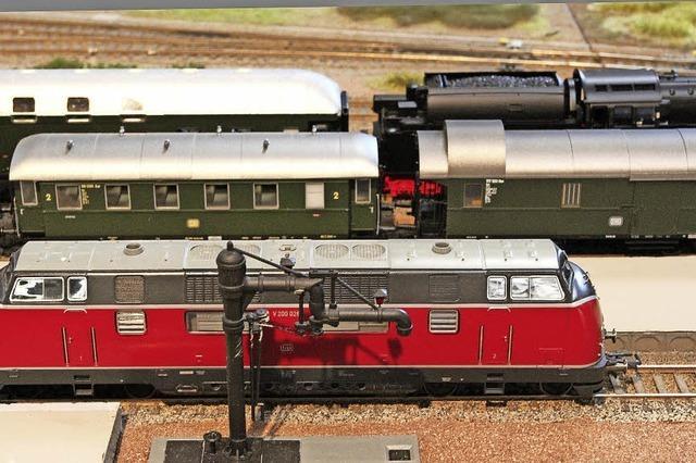 Modellbahnanlage der Spurweite H0 der Eisenbahnfreunde Breisgau in Titisee-Neustadt