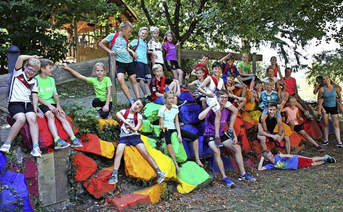Die Kinder haben sichtlich Spaß an den Aktivitäten.   | Foto: Gabriele Fässler