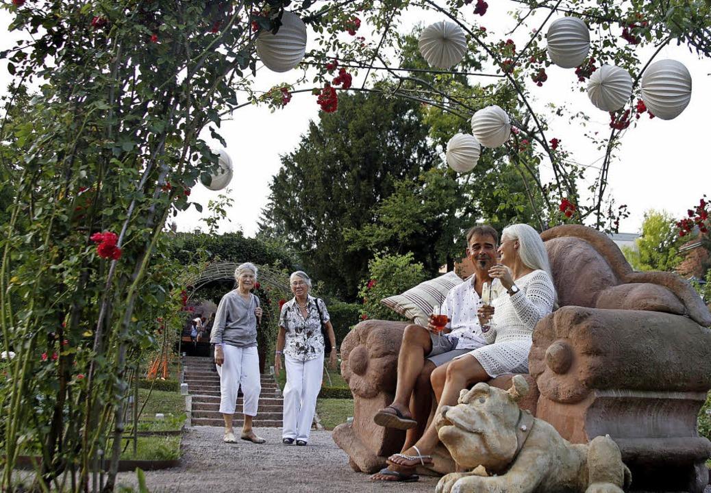 Mehr Kunst oder mehr Genuss? Am besten beides bei Kunst und Genuss im Stadtpark   | Foto: Heidi Fössel