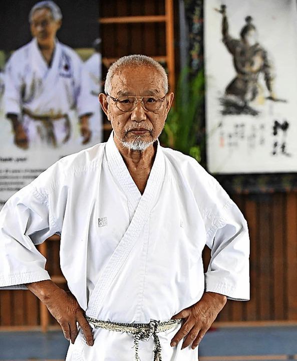 Legende ohne Allüren: Karate-Großmeister Tanaka gilt als der letzte Samurai.  | Foto: Wolfgang Scheu