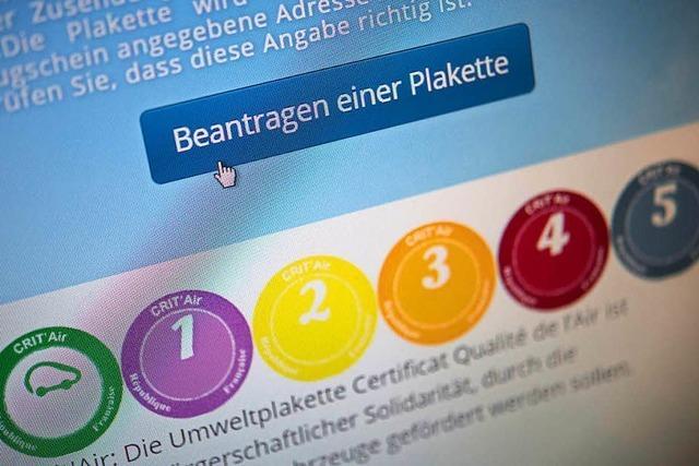 Grenzwerte überschritten: Autos dürfen erstmals nur mit Plakette nach Straßburg