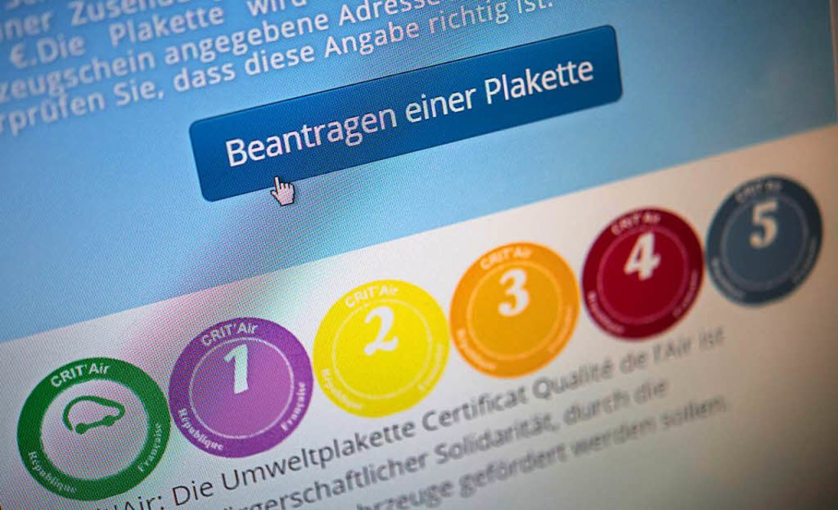 Die Umweltplakette für Straßburg gibt's im Internet.  | Foto: dpa