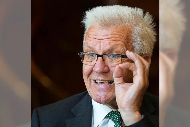 Umfrage: Winfried Kretschmann beliebtester Ministerpräsident