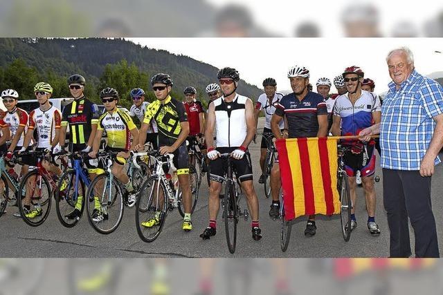 Über 100 Radfahrer dabei