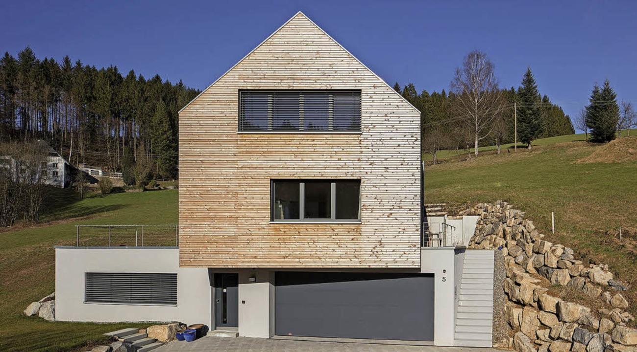 Klare Formensprache: Wohnhaus in Biederbach  | Foto: Johannes Vogt