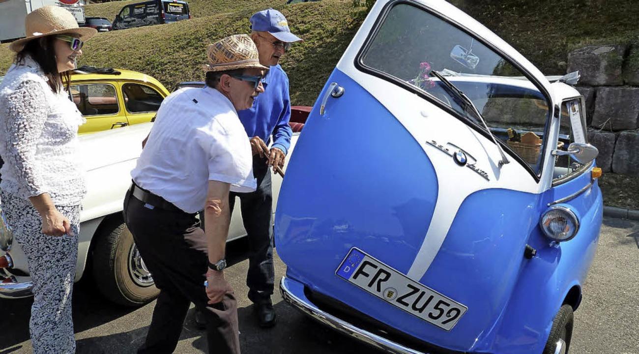 BMW-Isetta: Was für ein blau-weißer Schatz.  | Foto: Heidrun Simoneit