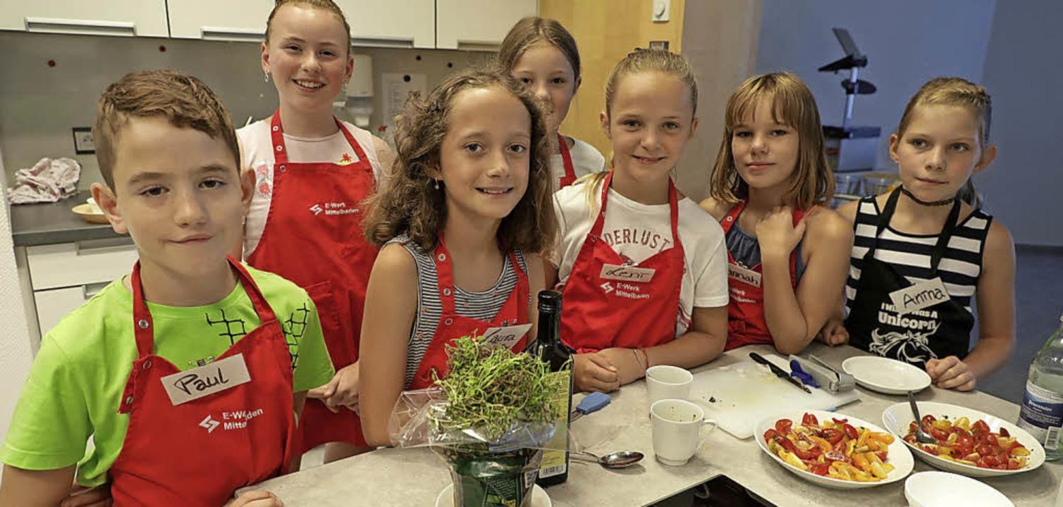 Die Kinder aus Friesenheim beim Kochkurs   | Foto: Christoph Breithaupt