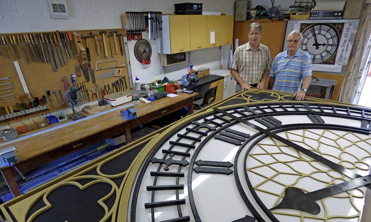 In der neuen Werkstatt werden künftig ...ie die Uhr, die 2016 gefertigt wurde.   | Foto: Frank Leonhardt