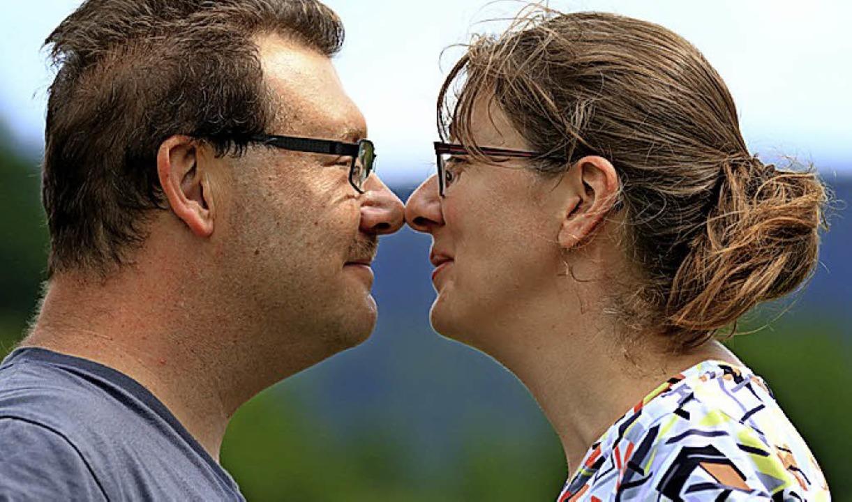Dieses Foto mit ihrem Mann Hubert mach...lüger mit Selbstauslöser und Stativ.    | Foto: Pflüger