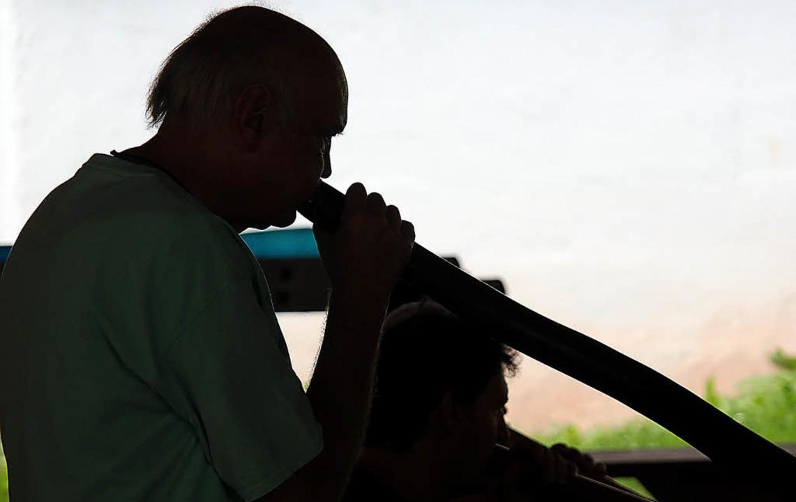 Australische Klänge mit dem Didgeridoo in Eisenbach.   | Foto: Gert Brichta