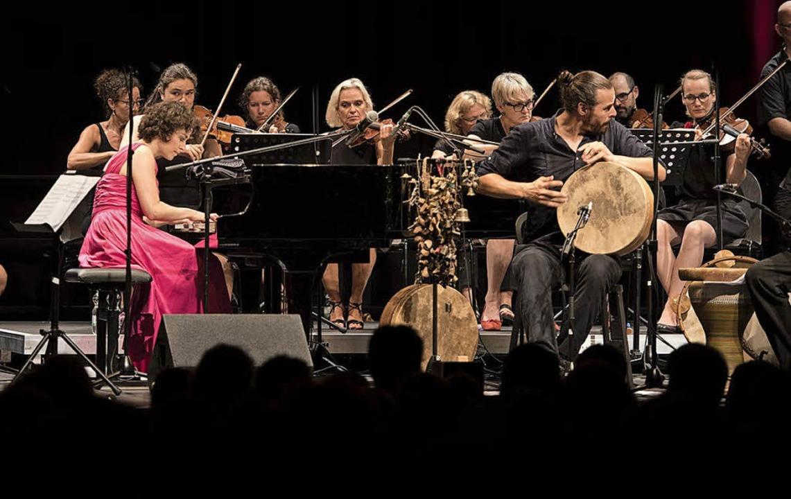 Die ukrainische Pianistin Marina Baran...vier, Streichorchester und Percussion.  | Foto: Ellen Schmauss