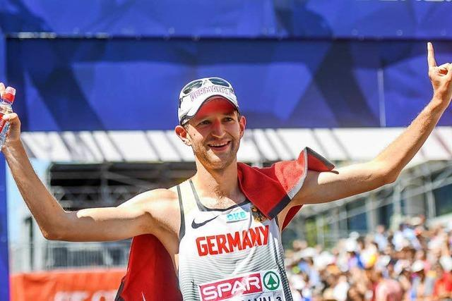 Spitzenresultate – die Freiburger Geher Carl Dohmann und Nathaniel Seiler werden Fünfter und Achter bei der EM in Berlin