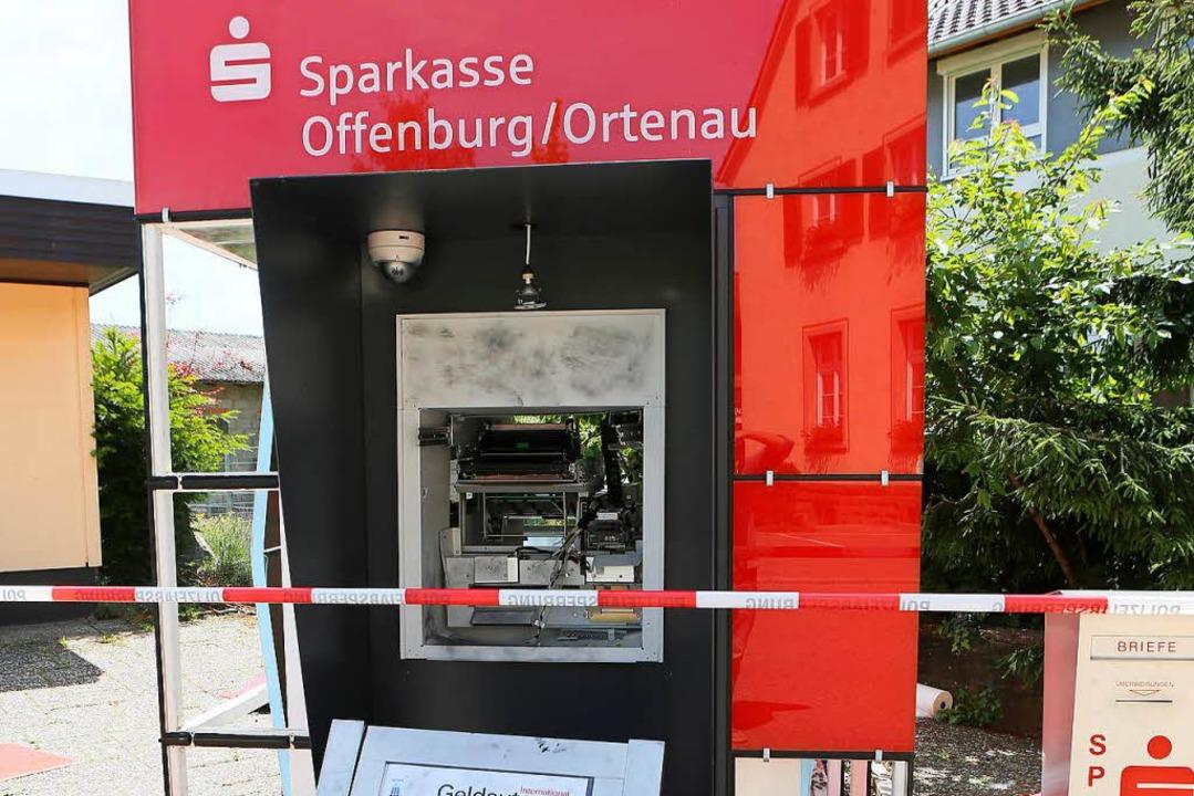 Der gesprengte Geldautomat  | Foto: Christoph Breithaupt