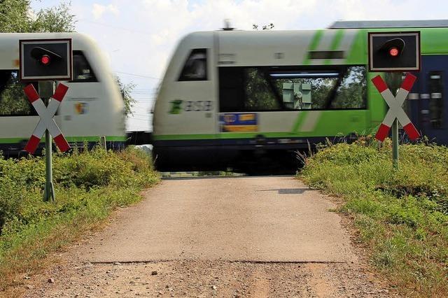 Bahnübergänge werden umgebaut