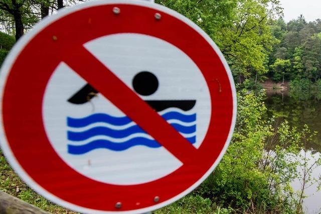 Badeverbot in der Basler Wiese – hohe Geldstrafe droht