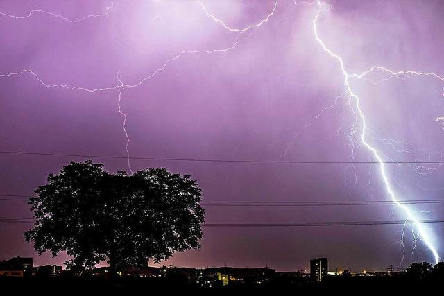So stark war das Gewitter in Bad Säckingen am Mittwochmorgen