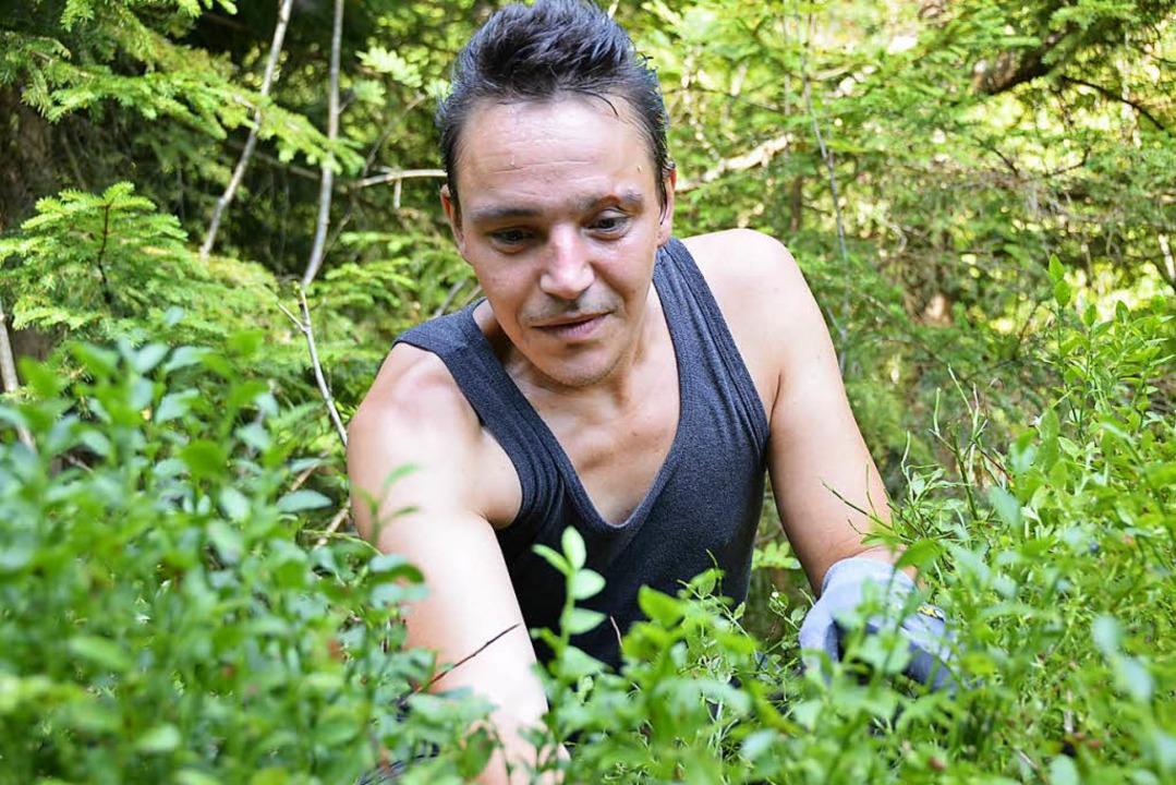 Dennis, 32, ist dankbar für die Arbeit auf dem Notschrei.  | Foto: Moritz Lehmann