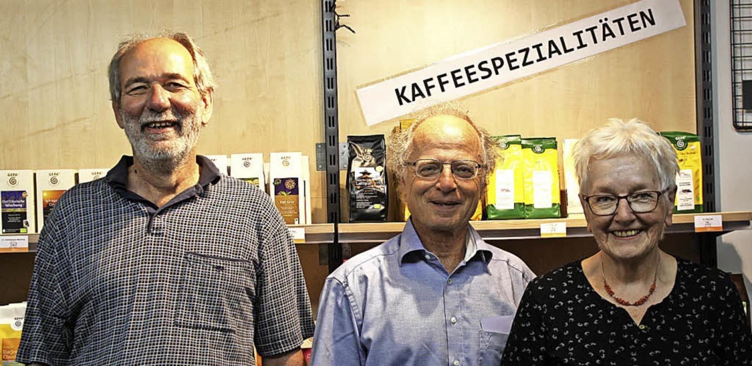 Werner Bürk, Andreas Marx und Doris Da...ch über den Erfolg der Spendenaktion.   | Foto: Christiane Franz