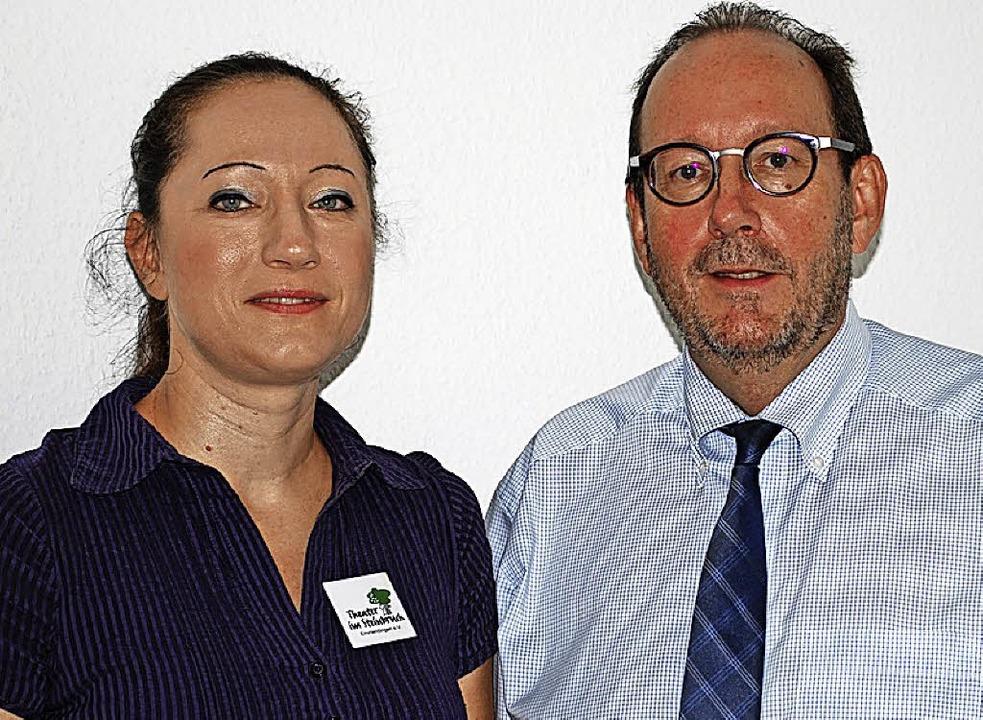 Jasmin Baumgratz und Hans-Joachim Wipfler  | Foto: Sylvia-Karina Jahn