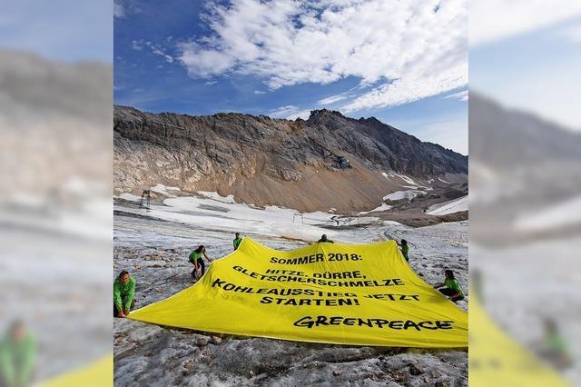 Greenpeace-Aktion an Zugspitze