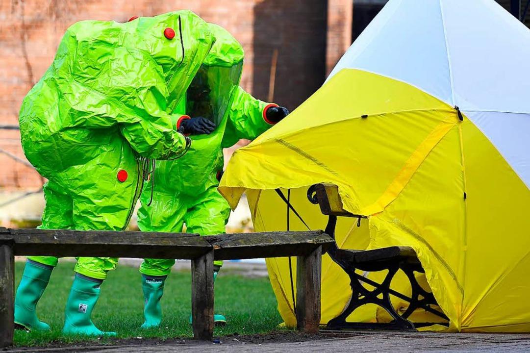 Wer steckt hinter dem Anschlag in Großbritannien?    Foto: AFP