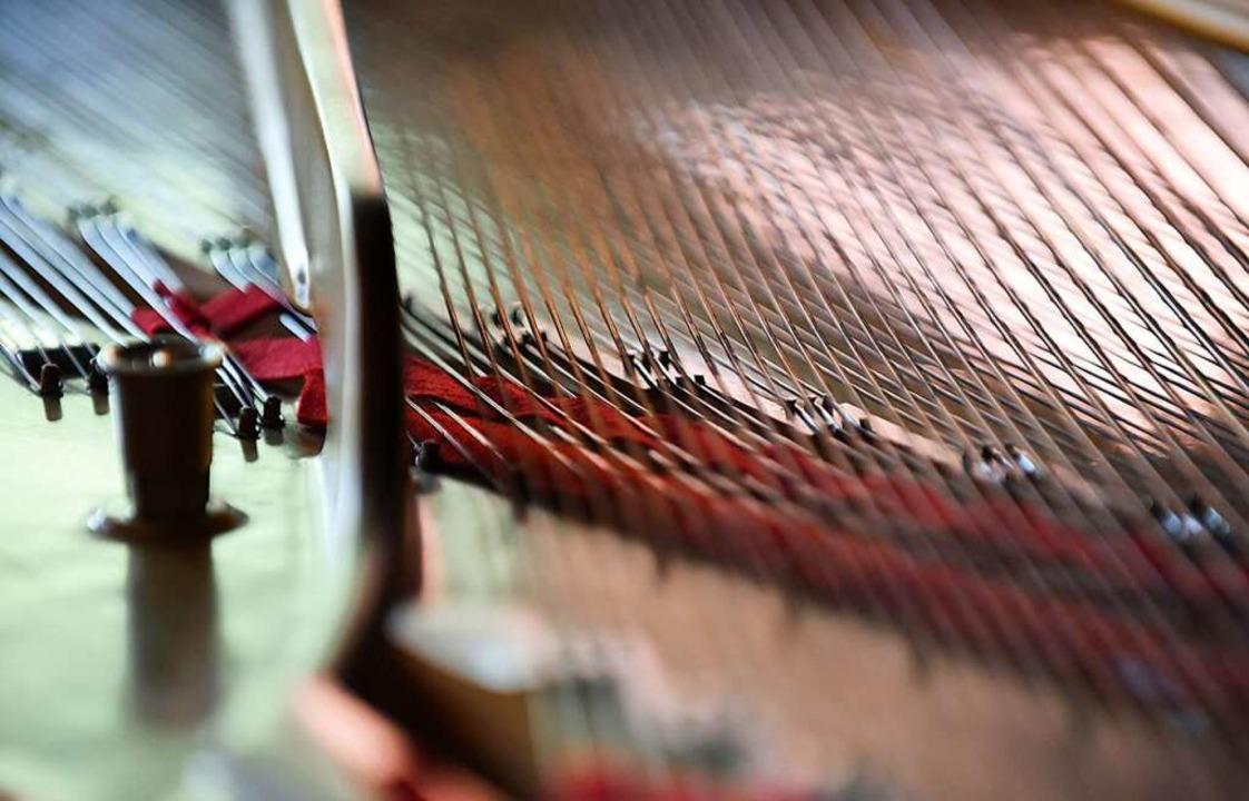 Wenn er mit  Schrauben an Klaviersaite...rt, erzeugt Ralf Schmid Verfremdungen.  | Foto: Rita Eggstein