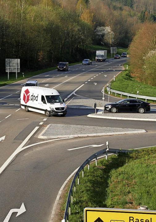 Knifflig: der Anschluss Mitte in Schopfheim  | Foto: JUng-Knoblich