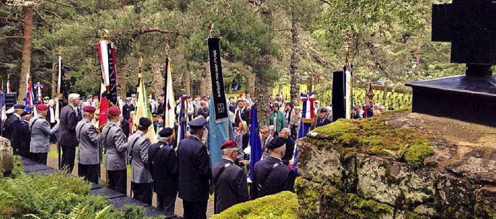 Vor 100 Jahren ging der Erste Weltkrie...stand bei einer früheren Gedenkfeier.   | Foto: Louis Igonin