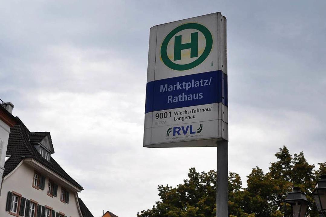 Diskussion um die Citybus-Haltestelle am Marktplatz in Schopfheim    Foto: Nicolai Kapitz