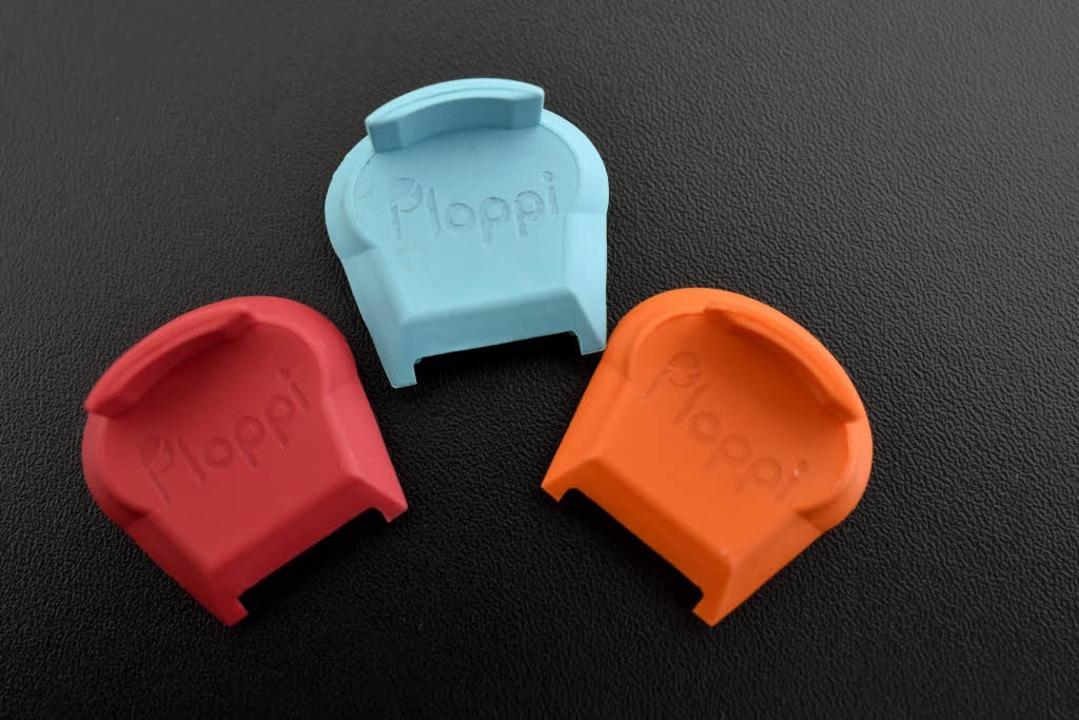 """""""Ploppi"""" gibt es in drei verschiedenen Farben.    Foto: Thomas Kunz"""