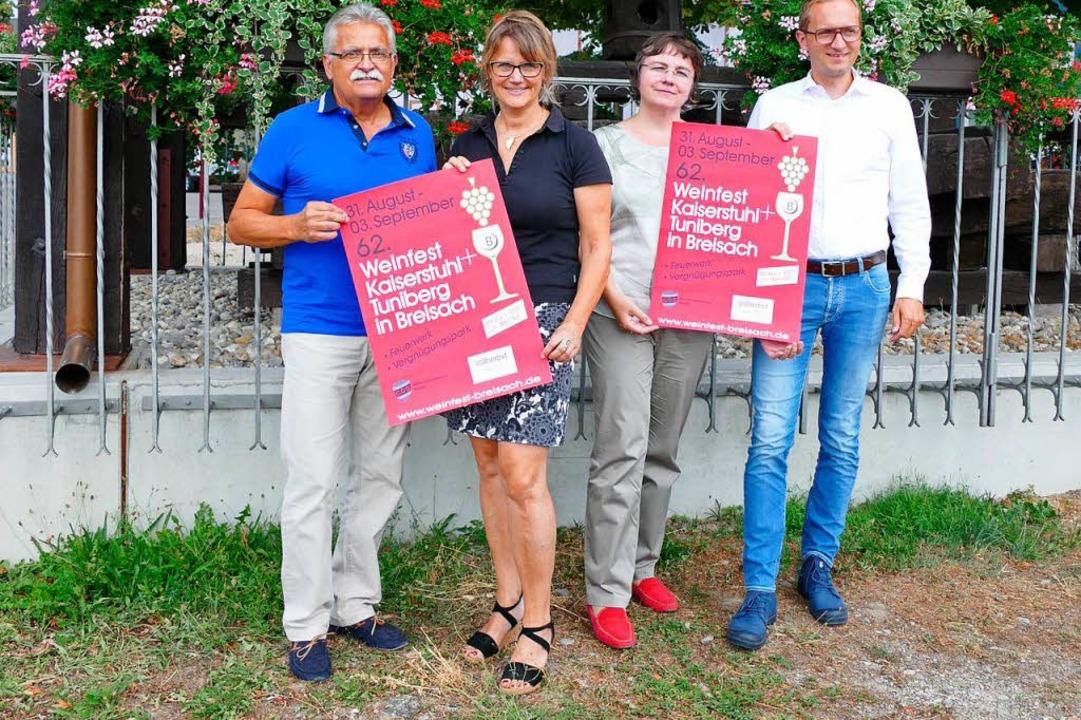 Die Organisatoren und Helfer des Breis...ner, Germana Rocca und Denis Kirstein.  | Foto: Gerold Zink