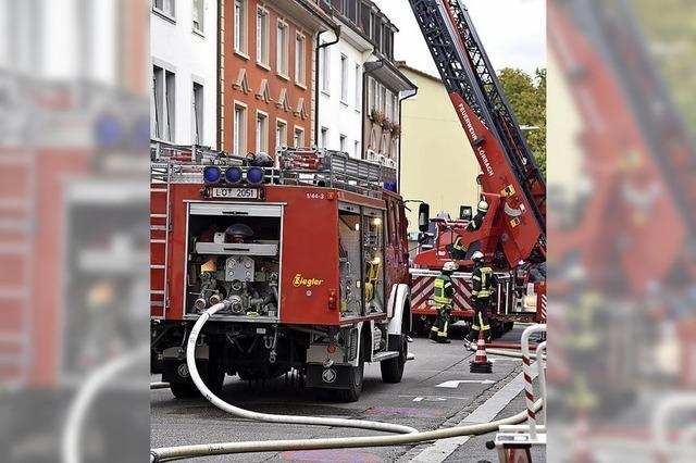 Dachgeschosswohnung brannte