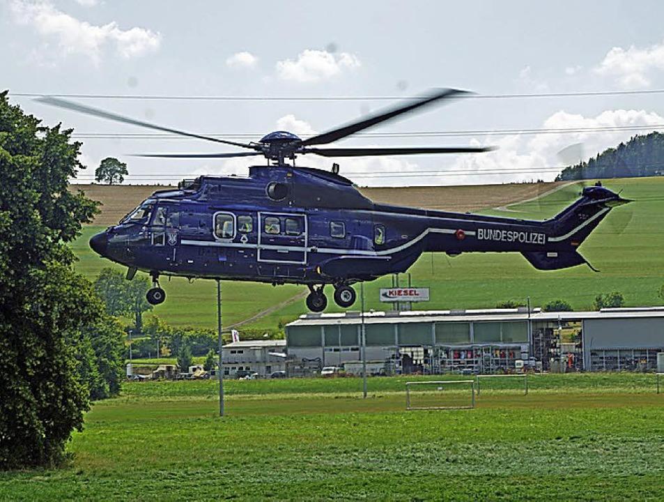 Helikopter  im Einsatz    Foto: Bupo