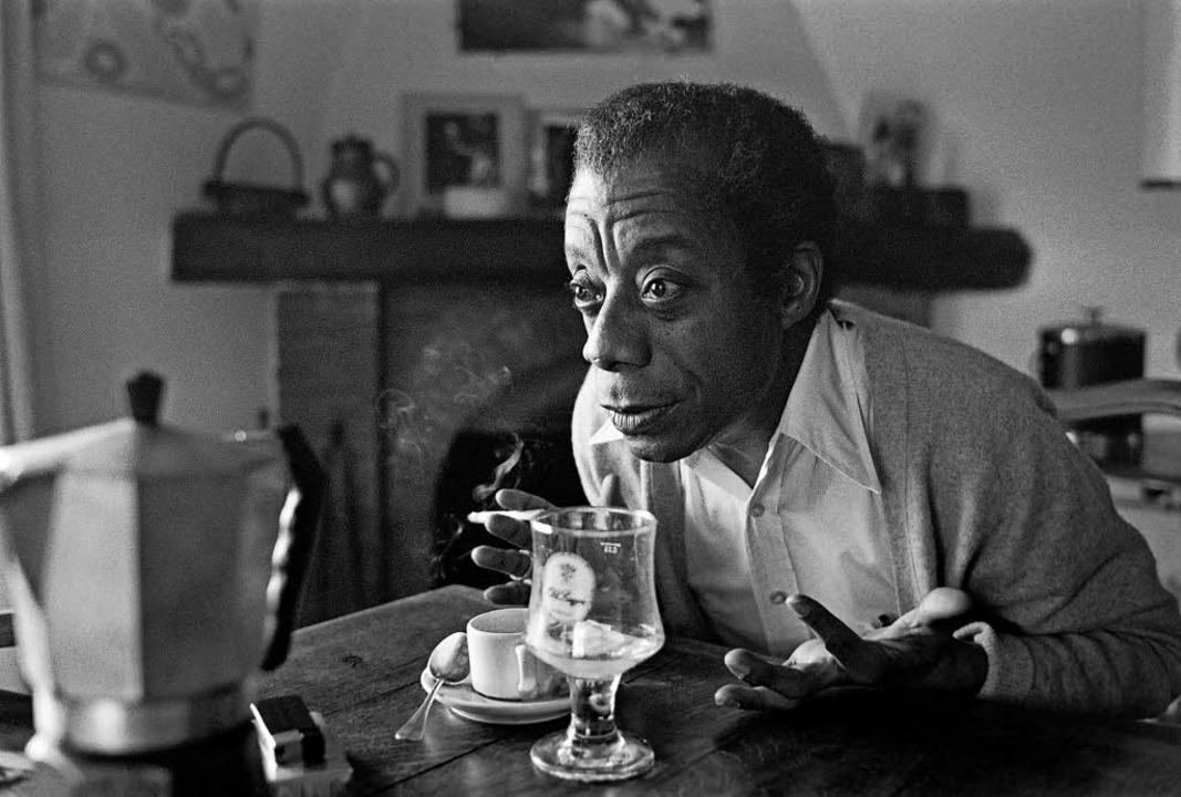 James Baldwin 1979 in seinem Haus am Chemin du Pilon in Saint-Paul-de -Vence    | Foto: afp