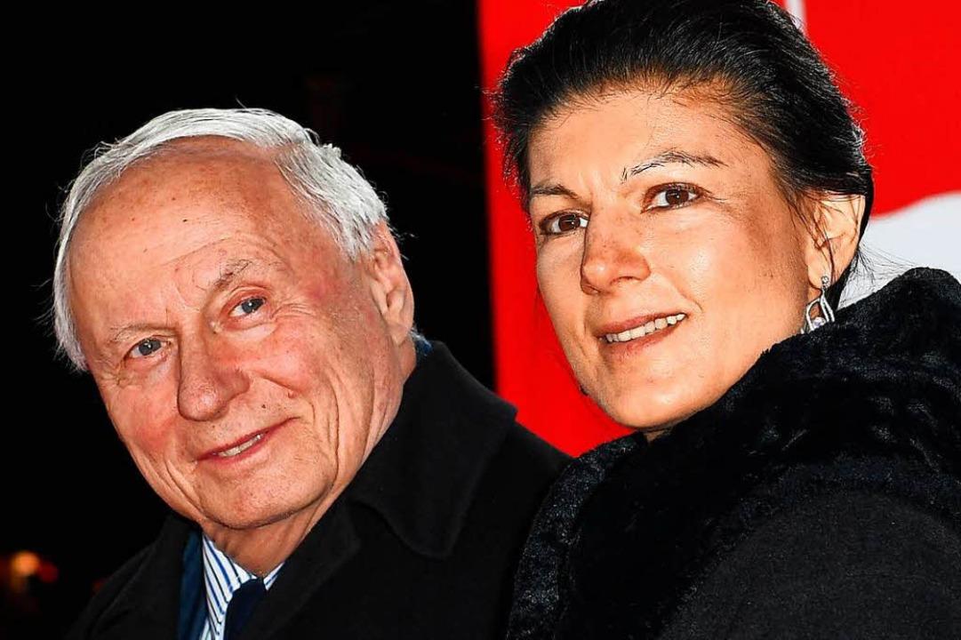 Oskar Lafontaine (links) und seine Frau Sahra Wagenknecht  | Foto: dpa