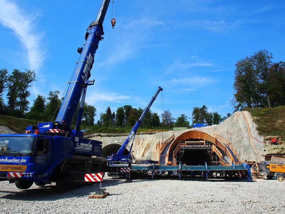 Das Tunnelportal im Osten.    Foto: Boris Burkhardt