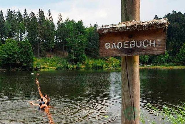 Seen in der Freiburger Umgebung: Da kann man baden
