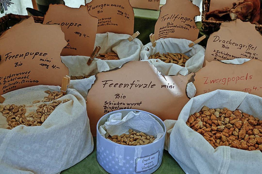 Mittelalterliche Snacks gab's in Hülle und Fülle.  | Foto: Sandra Decoux-Kone