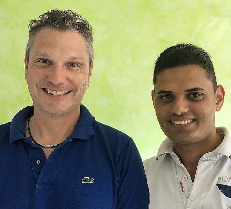 Achim Bauer (links) und Zoher Sabeel  | Foto: Roland Muschel