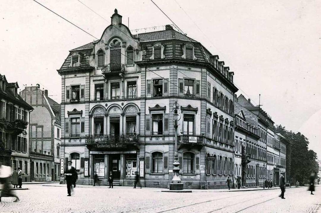 Der westliche Teil vom   heutigen Friedrichring,  etwa 1920...  | Foto: Archiv Manfred Gallo
