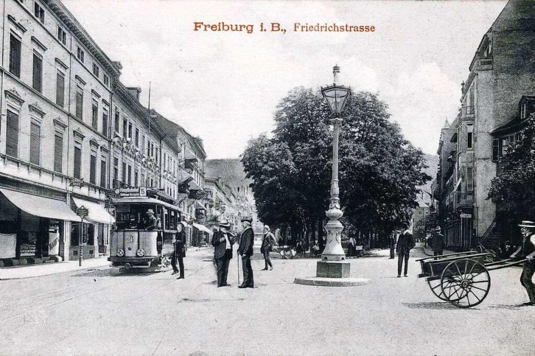 Der östliche Teil vom heutigen Friedrichring auf einer Ansichtskarte von 1911...  | Foto: Archiv Manfred Gallo