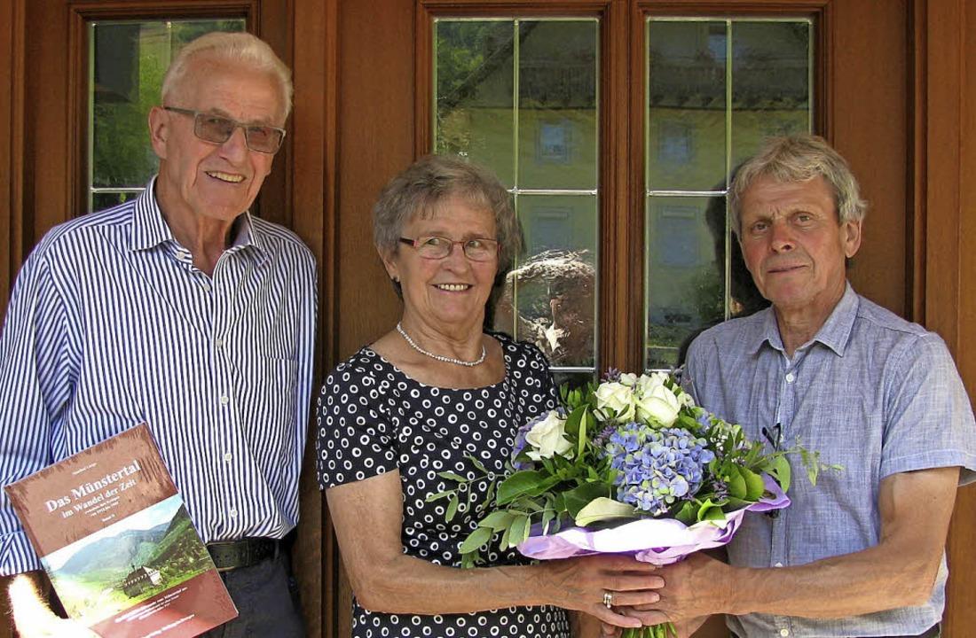 Seit 60 Jahren verheiratet: Ursula und...germeisterstellvertreter Edwin Hofmann  | Foto: M. Lange