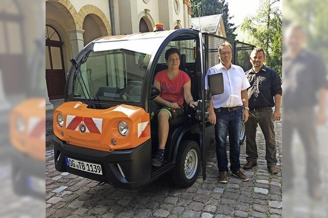 E-Transporter trägt zur Friedhofsruhe bei