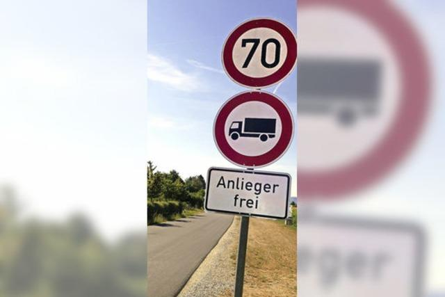 Jetzt gilt das Lkw-Verbot