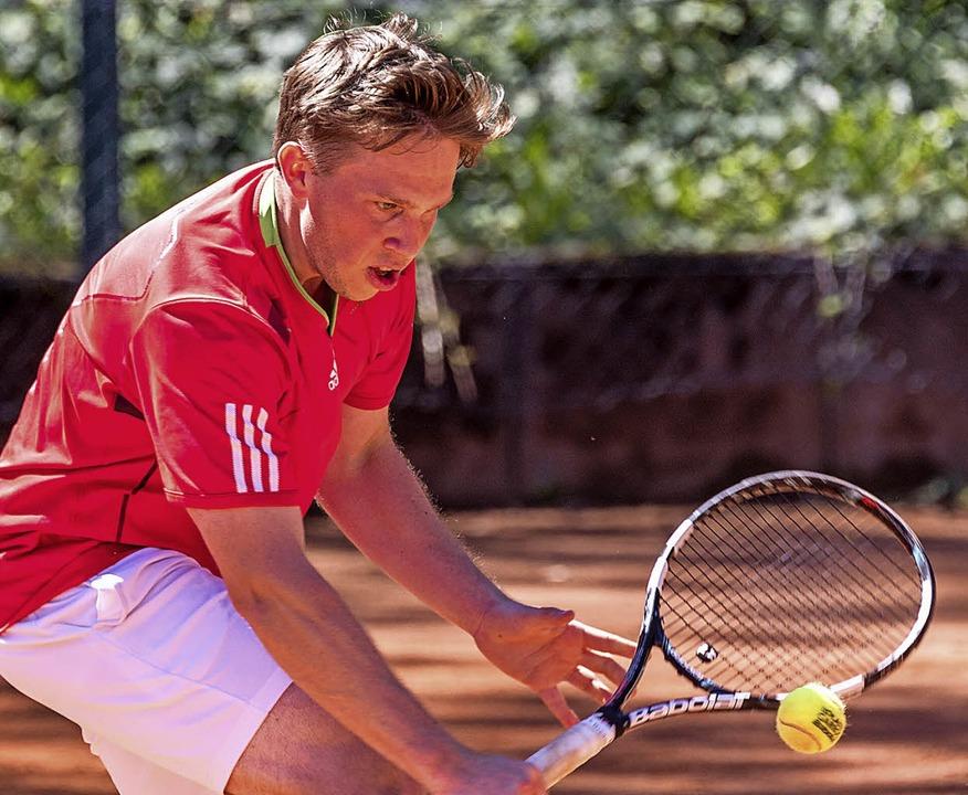 Klarer Finalsieg: Moritz Henniger, TC Grenzach-Wyhlen   | Foto: Gerd Gründl