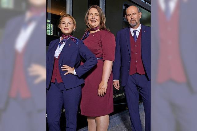 Neue Uniformen der Bahn-Mitarbeiter